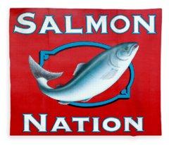 Salmon Nation Fleece Blanket