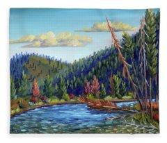 Salmon River - Stanley Fleece Blanket