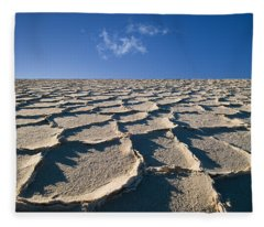 Salt Flats Death Valley National Park Fleece Blanket