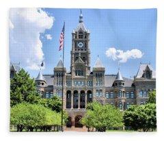 Salt Lake City County Building Fleece Blanket