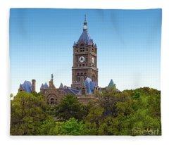 Salt Lake City Hall Fleece Blanket