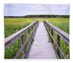 Salt Marsh Boardwalk Fleece Blanket
