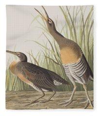 Salt Water Marsh Hen Fleece Blanket