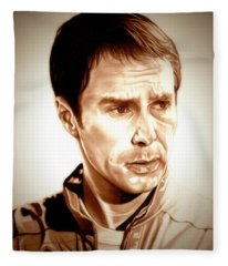 Sam Rockwell Moon Fleece Blanket