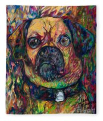 Sam The Dog Fleece Blanket