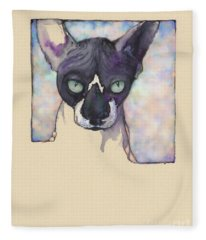 Sam The Sphynx Fleece Blanket