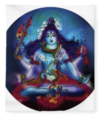 Samadhi Shiva Fleece Blanket