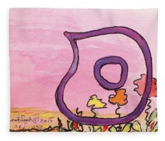 Samech And Flowers Fleece Blanket