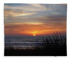 Samoa Dunes Sunset Fleece Blanket