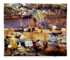 Samuel Morley Bridge Fairlee Vt To Orford Nh Fleece Blanket