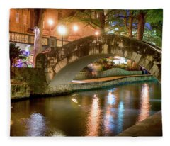 San Antonio River Walk V1 Fleece Blanket