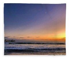 San Clemente Sunset Fleece Blanket