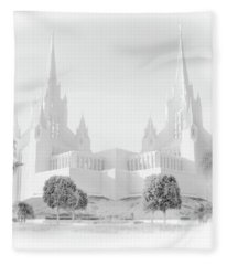 San Diego Lds Temple Fleece Blanket