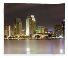San Diego Lights Fleece Blanket