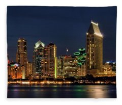San Diego Night Fleece Blanket
