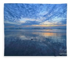 San Elijo Blue  Fleece Blanket
