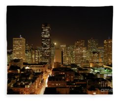 San Francisco At Night Fleece Blanket