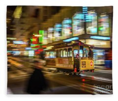 San Francisco Cable Car Fleece Blanket