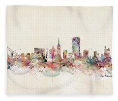 San Francisco California Fleece Blanket