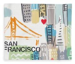 San Francisco Fleece Blankets