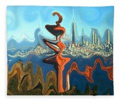 San Francisco Earthquake - Modern Artwork Fleece Blanket