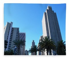 San Francisco Embarcadero Center Fleece Blanket