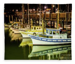 San Francisco Fisherman's Wharf Fleece Blanket