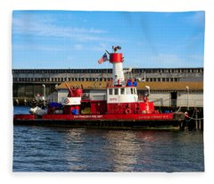 San Francisco Guardian Fireboat No 2 Fleece Blanket