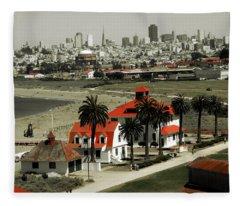 San Francisco Panorama 2015 Fleece Blanket