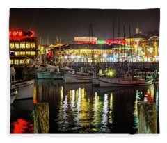 San Francisco's Fisherman's Wharf Fleece Blanket