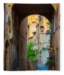San Gimignano Archway Fleece Blanket
