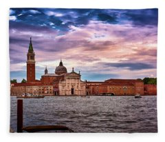 San Giorgio Di Maggiore Church Fleece Blanket