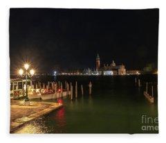 San Giorgio Maggiori At Night Fleece Blanket