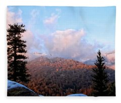 San Jacinto Mountains 2 - California Fleece Blanket
