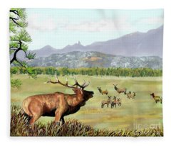 San Juan Elk Vista Fleece Blanket
