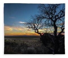 San Luis Valley Sunset - Colorado Fleece Blanket
