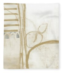 Sand And Stone 3- Contemporary Abstract Art By Linda Woods Fleece Blanket