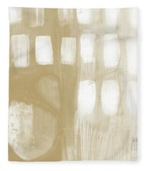 Sand And Stone 4- Contemporary Abstract Art By Linda Woods Fleece Blanket