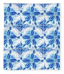 Sand Dollar Delight Pattern 3 Fleece Blanket