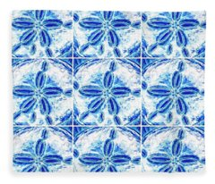 Sand Dollar Delight Pattern 3 Fleece Blanket