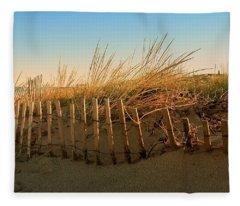 Sand Dune In Late September - Jersey Shore Fleece Blanket