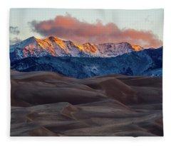 Sand Dune Sunrise Fleece Blanket