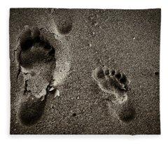 Sand Feet Fleece Blanket
