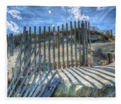 Sand Fence Fleece Blanket