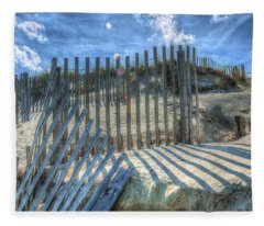Sand Fence Fleece Blanket