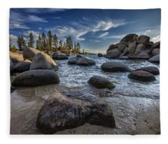 Sand Harbor II Fleece Blanket