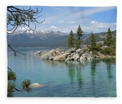 Sand Harbor Rapture Fleece Blanket