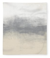 Sand Swept- Abstract Art By Linda Woods Fleece Blanket