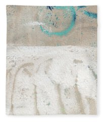 Sandcastles- Abstract Painting Fleece Blanket