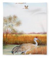 Sandhill Cranes-jp3160 Fleece Blanket